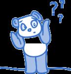 Panda mit Fragezeichen