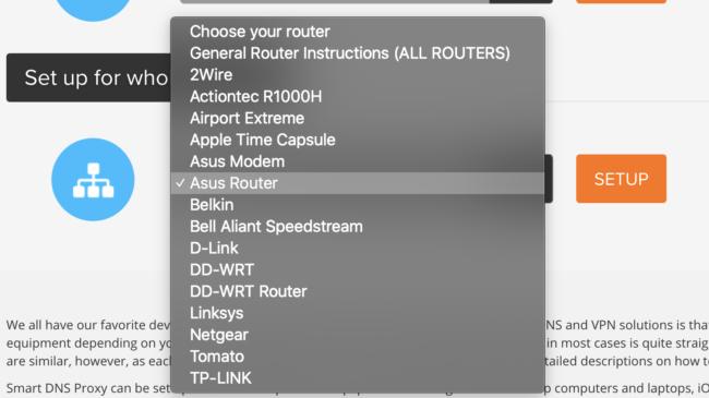 SmartDNS proxy Nutzung auf Routern