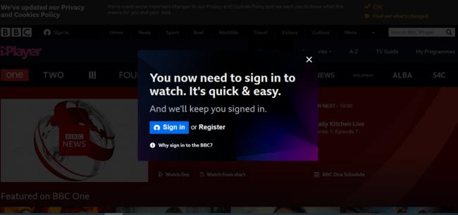 Registrierung bei BBC