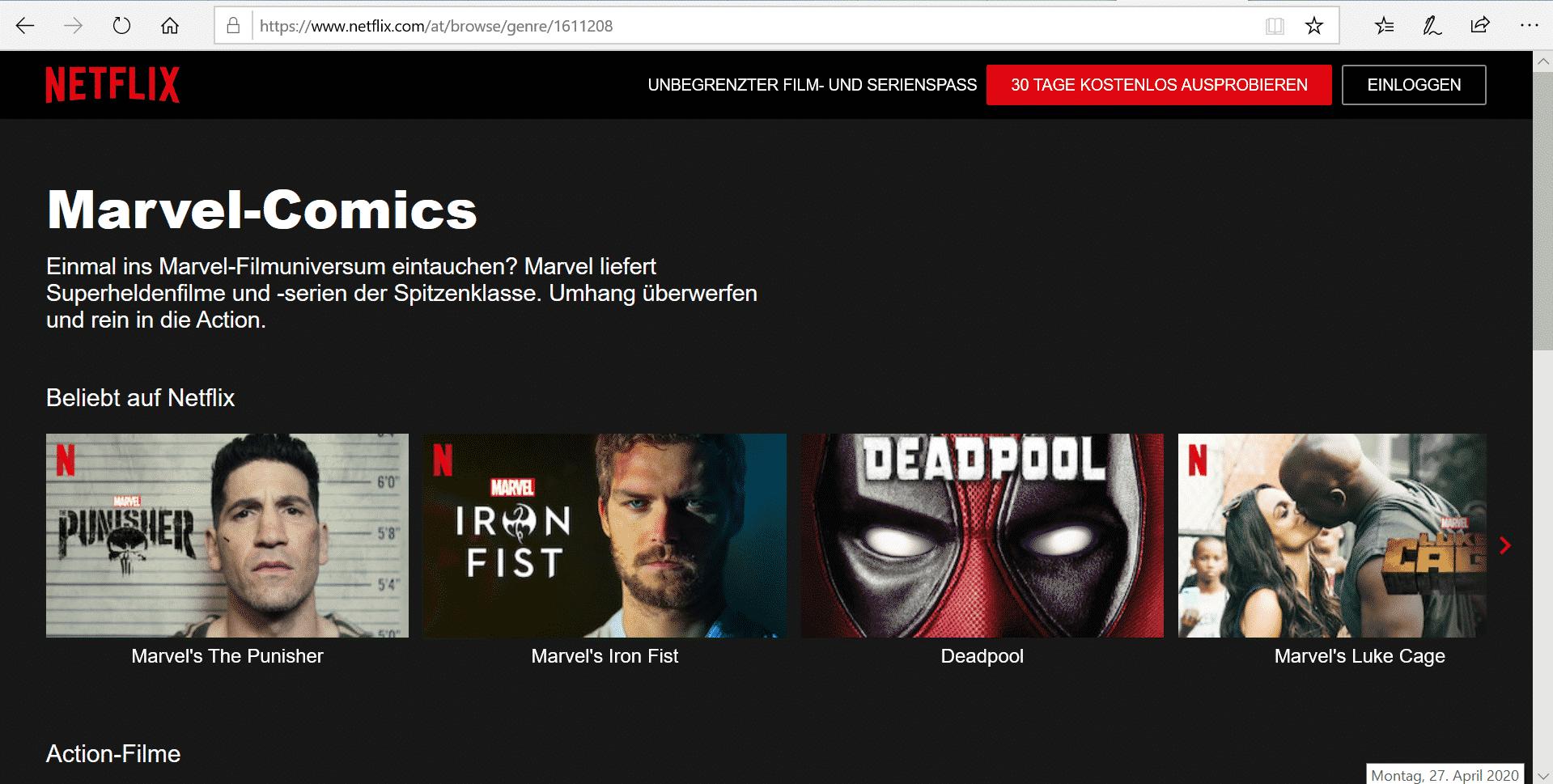 Netflix Marvel bietet einiges