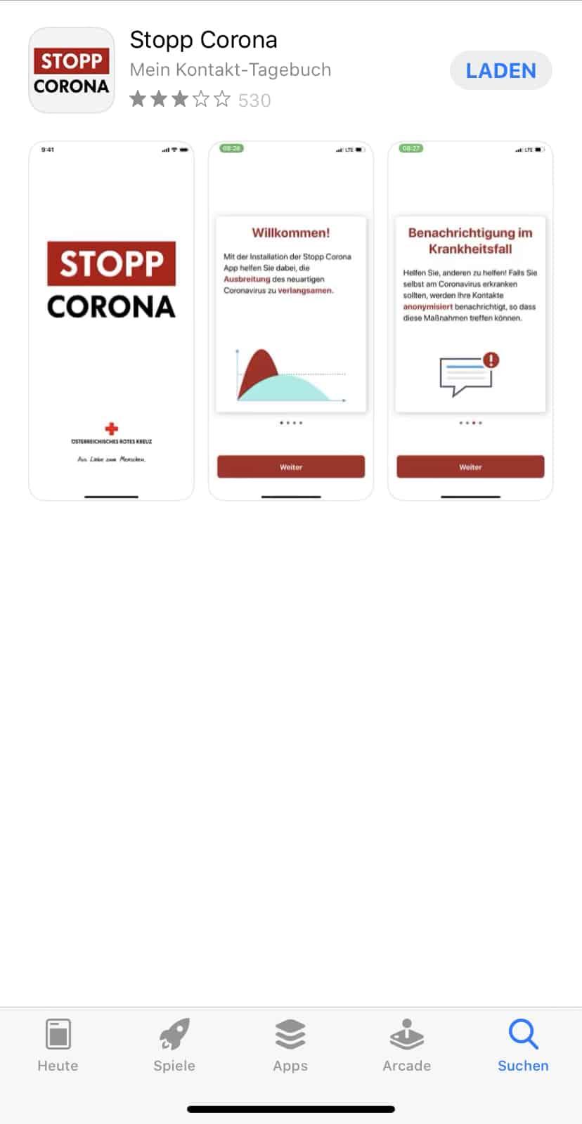 Stopp Corona App Österreich