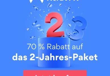 NordVPN 70% Rabatt aus das 2-Jahres-Paket