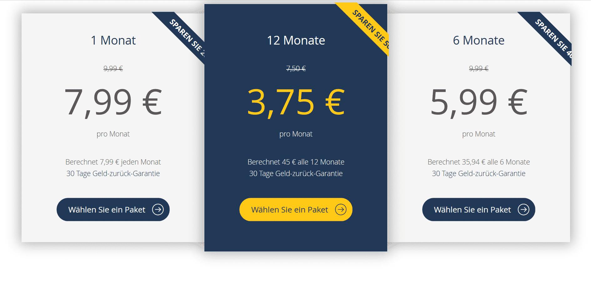 UltraVPN Preise