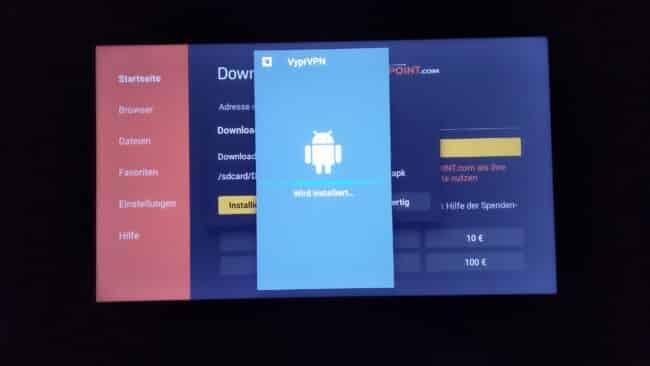 Anleitung: VyprVPN App (Neue Version) bereits auf FireTV installieren 6