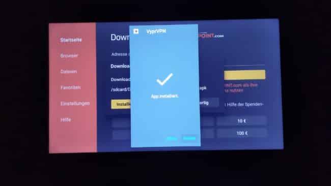 Anleitung: VyprVPN App (Neue Version) bereits auf FireTV installieren 7