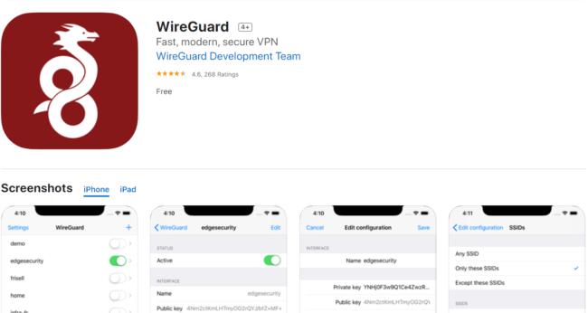 WireGuard Appstore