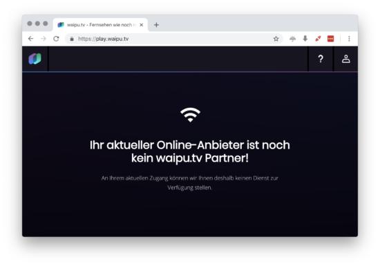 waipu.tv gesperrt mit VPN