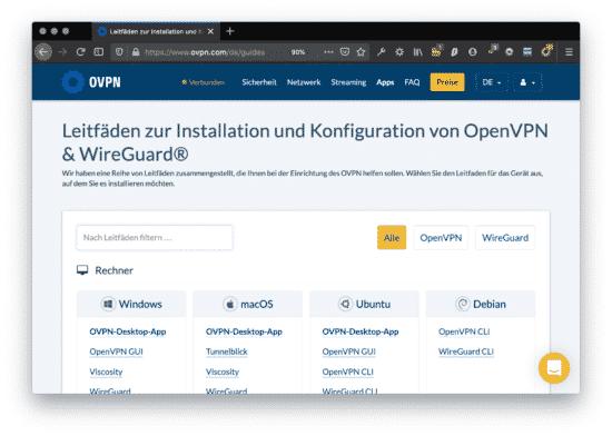 News: OVPN nun auch in Deutsch + Android App im Betastatus 6