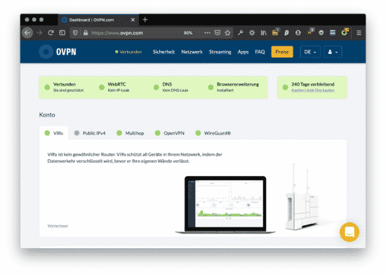 News: OVPN nun auch in Deutsch + Android App im Betastatus 7