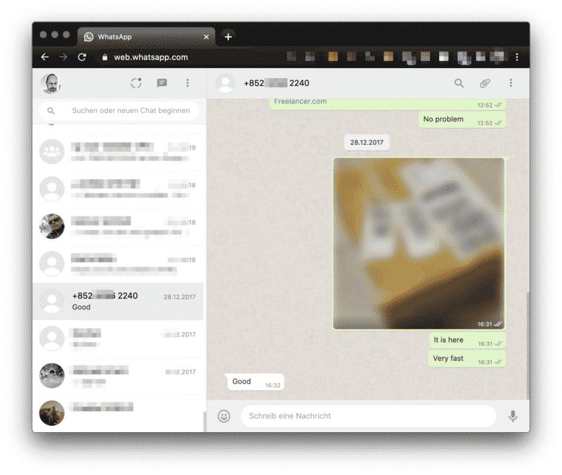 Whatsapp Web-Client wird zur Überwachung genutzt
