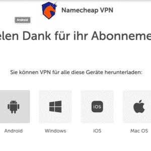 Namecheap VPN für alle Geräte