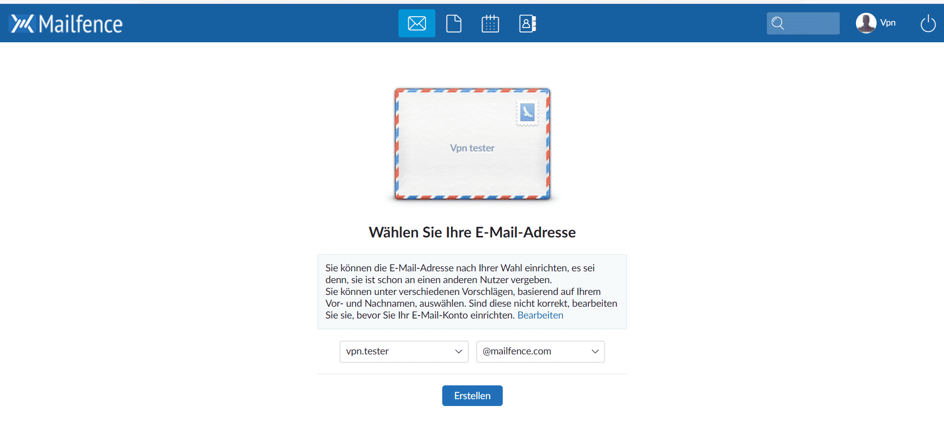 Mailfence Start