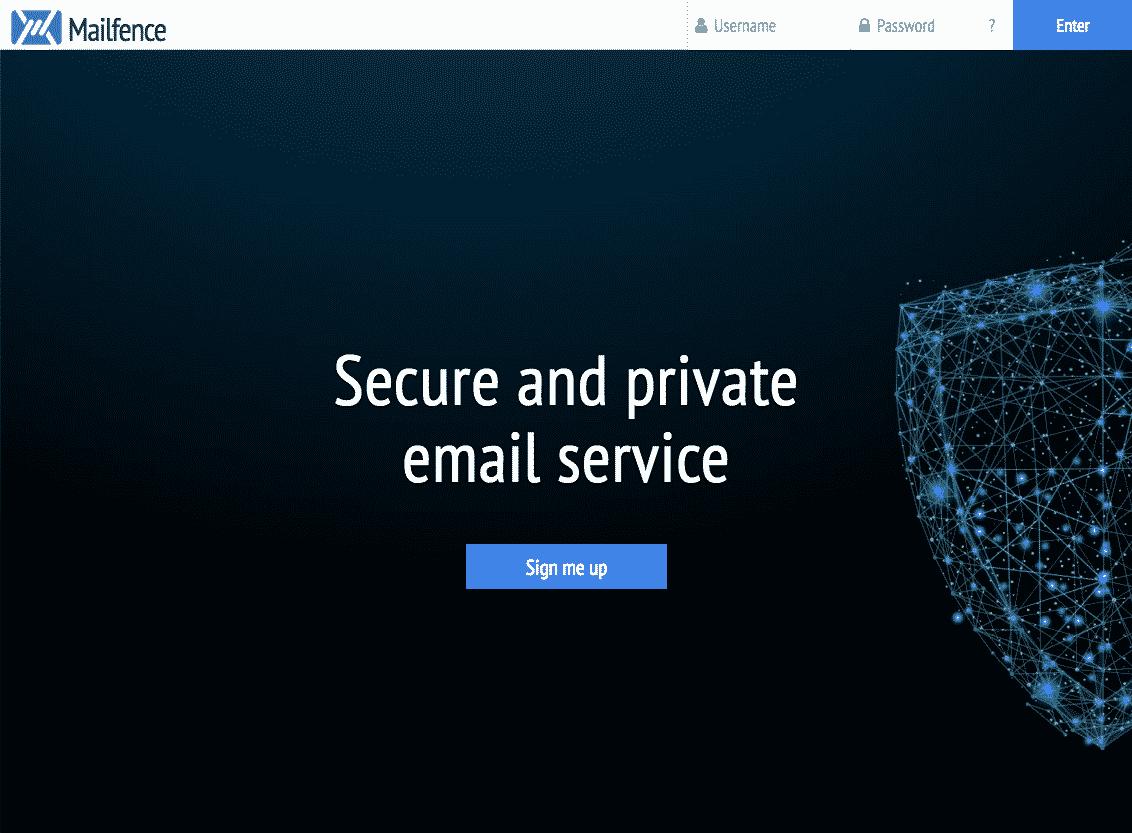 Mailfence Webseite
