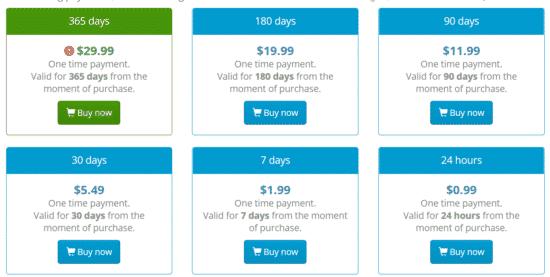 VPNJack Preise