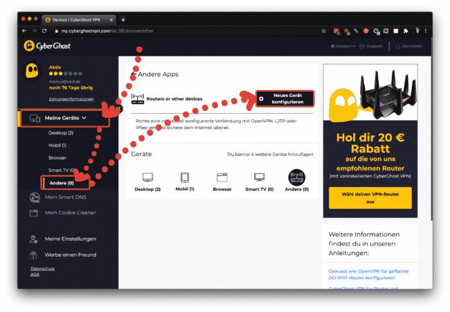 Anleitung CyberGhost auf ASUS Router mit OpenVPN