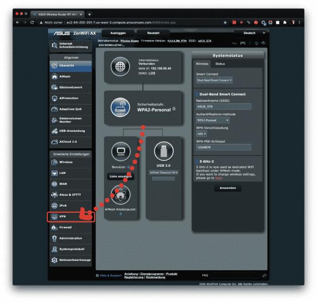 Anleitung: CyberGhost mit OpenVPN am ASUS verwenden 8