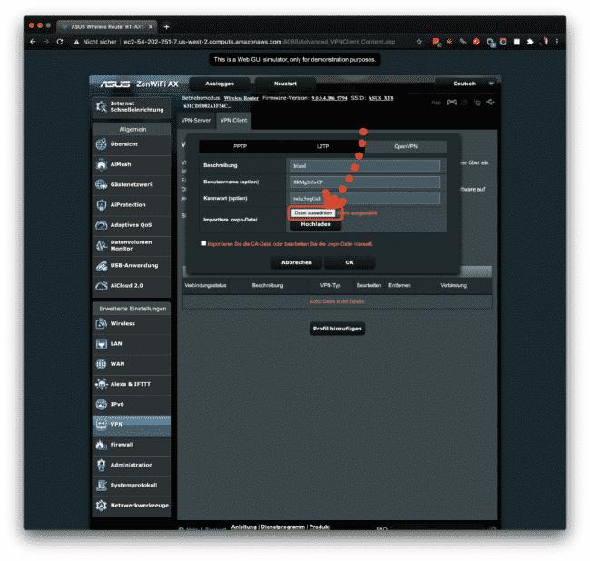 Anleitung: CyberGhost mit OpenVPN am ASUS verwenden 16