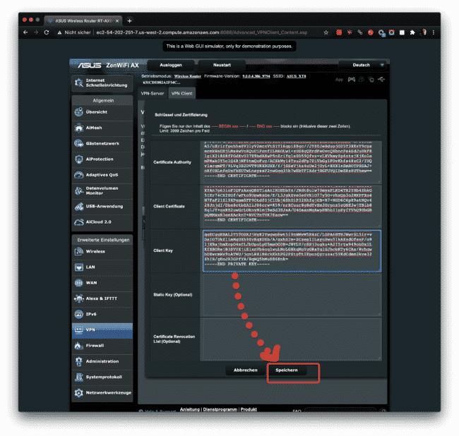 Anleitung: CyberGhost mit OpenVPN am ASUS verwenden 22