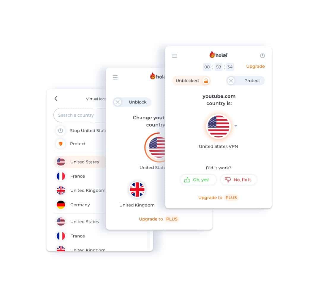 HOLA VPN Extension