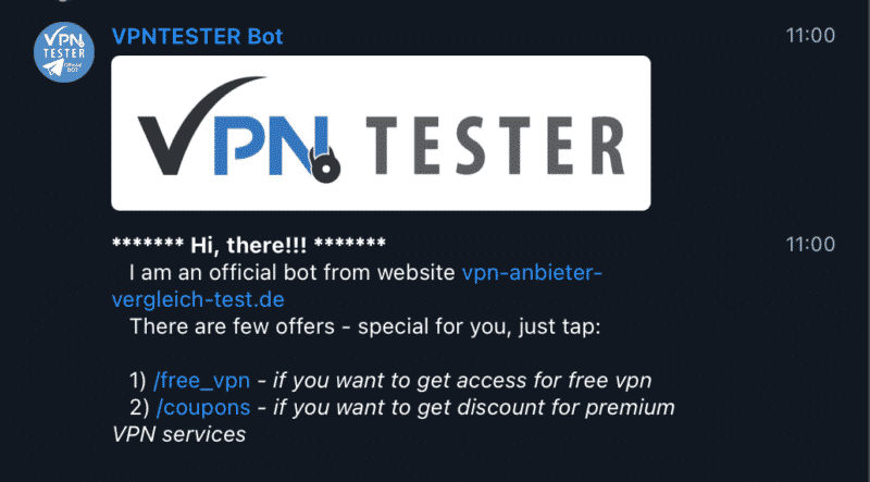 VPNTESTER Bot