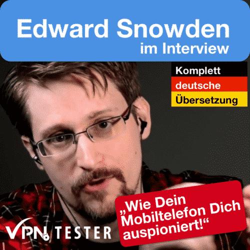 Edward Snowden Interview deutsch