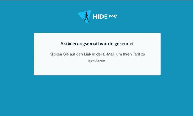 hide.me vpn email wird zugesendet