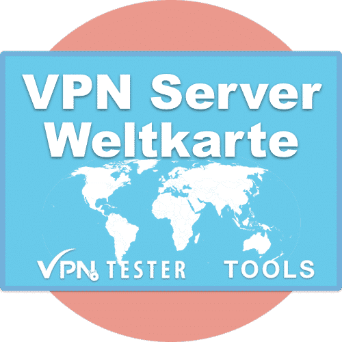 VPN Server Standortkarte