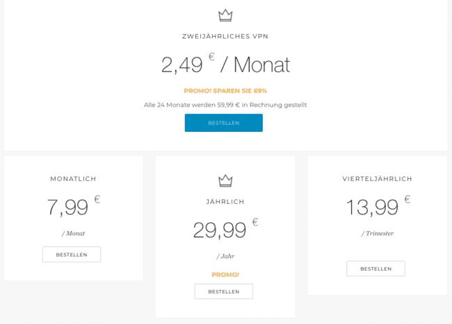 monVPN Preise