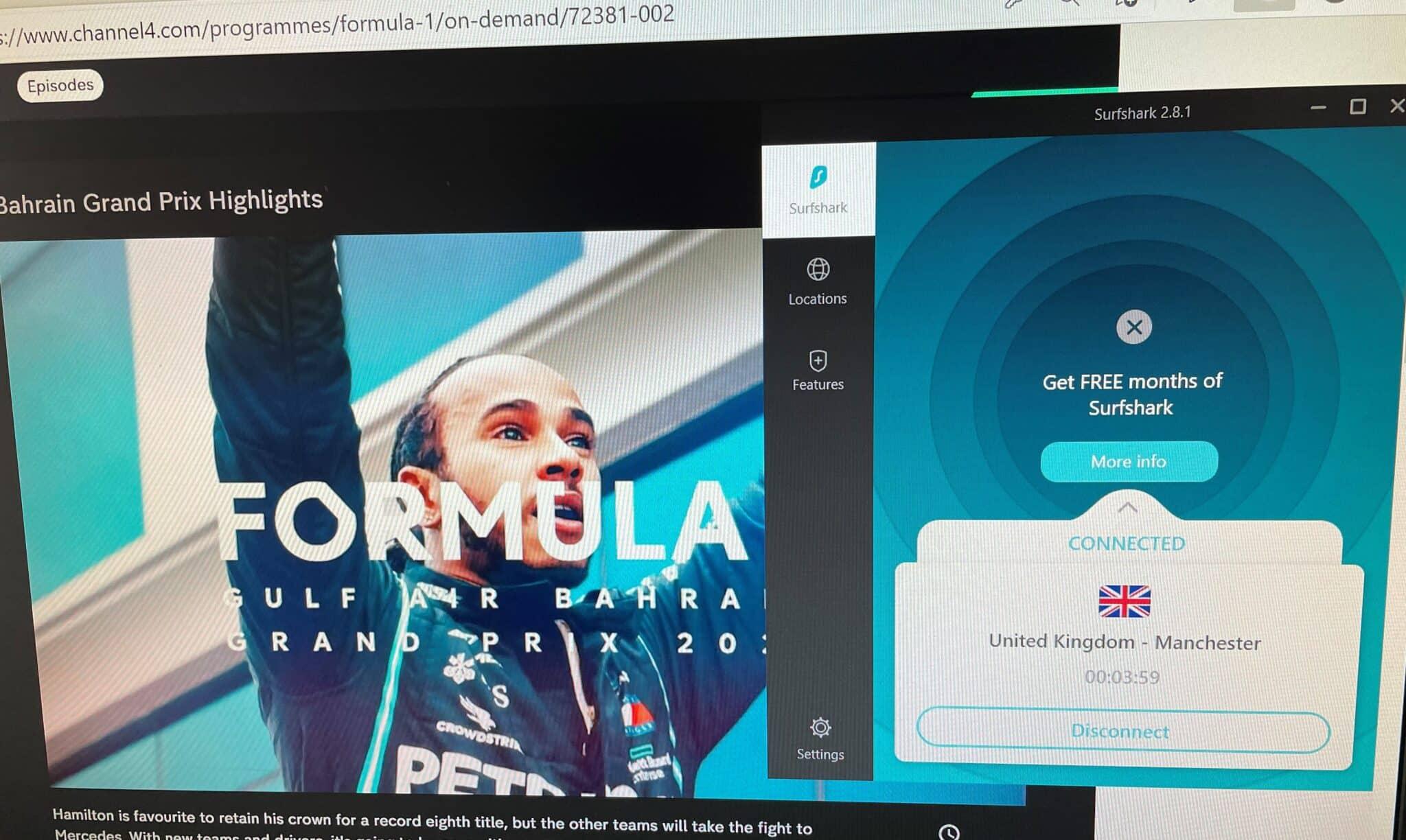 Formel 1 kostenlos streamen mit Surfshark