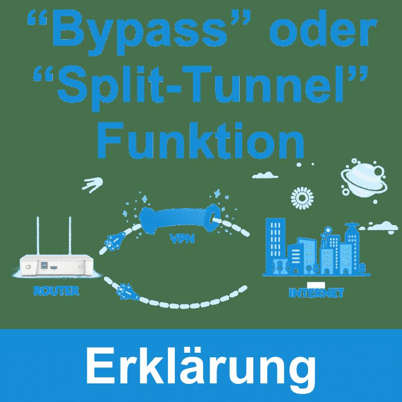 Bypass und Split-Tunnel Funktion