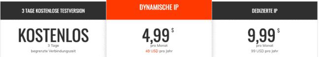 Unblock VPN Preise