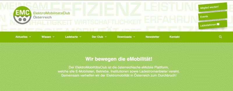 EMC Austria Webseite