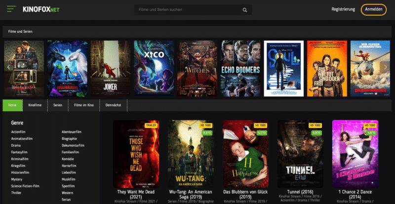 kinofox.net - Illegale Streaming Plattform wird laufend beliebter