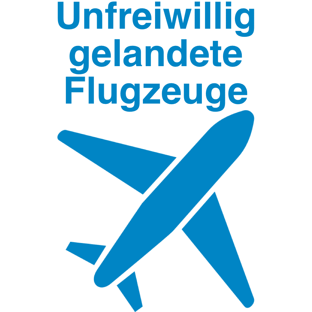 Zur Landung gezwungen Liste aller Vorkomnisse
