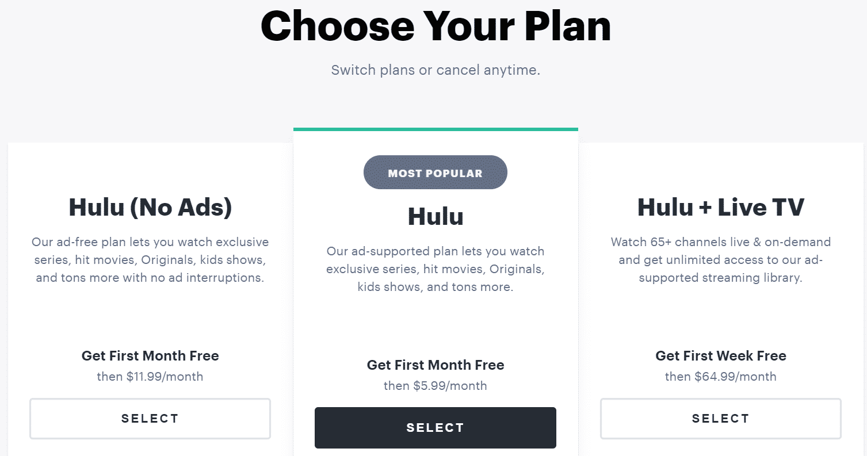 Hulu Preise