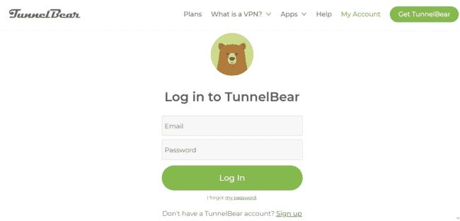TunnelBear kündigen Login