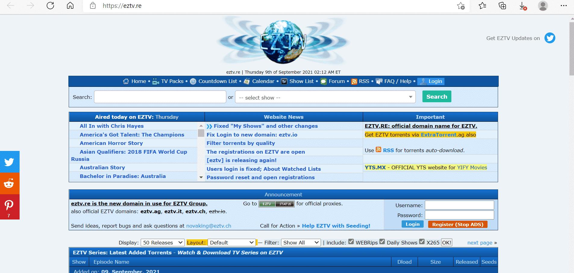 ETZV Startseite