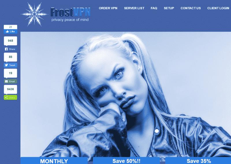 FrostVPN Startseite