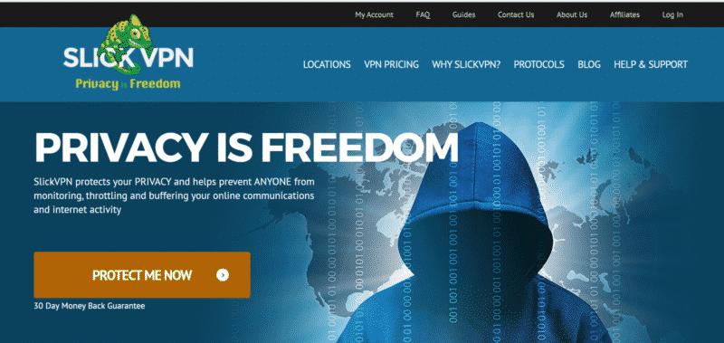 SlickVPN Startseite