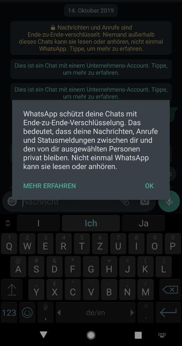 Whatsapp-Mitarbeiter haben Zugang zu Kundenchats